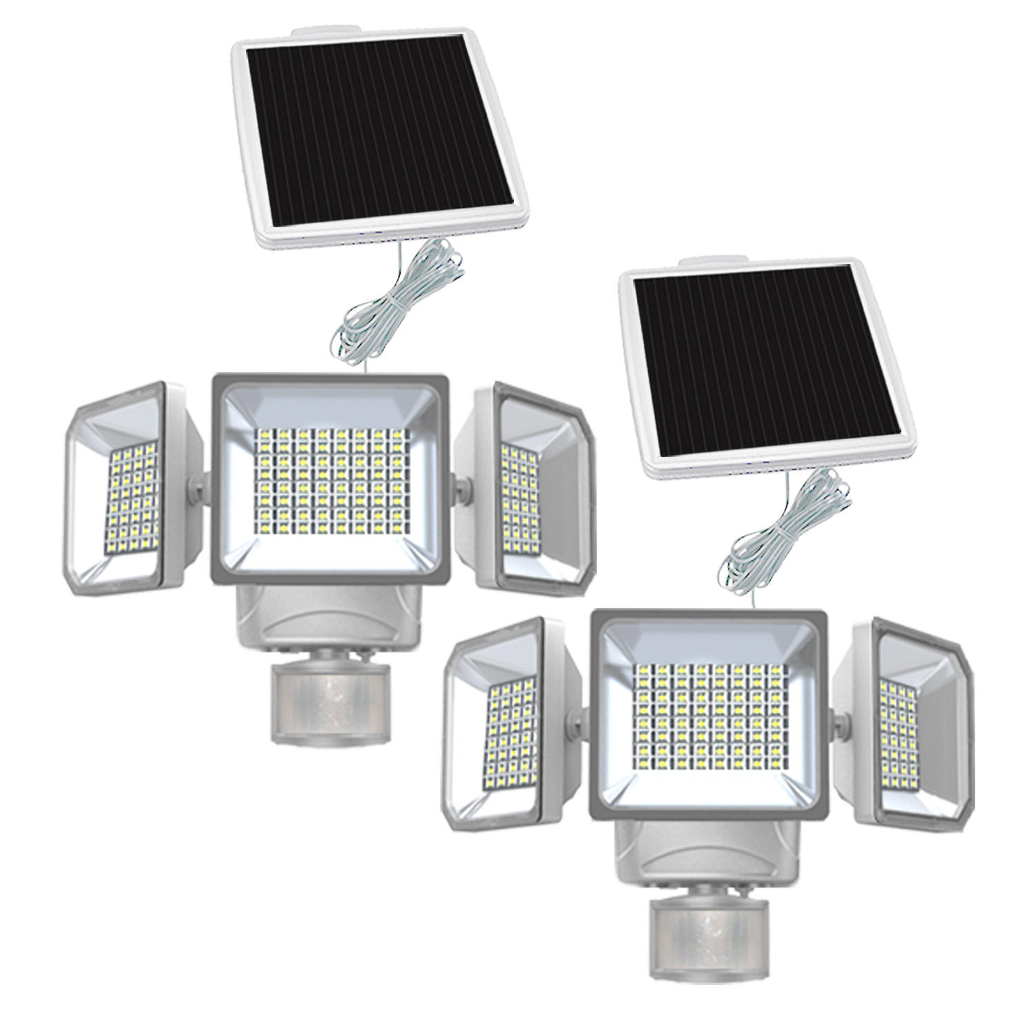 2-Pack Westinghouse 2000 Lumen Solar Motion Activated Security Light