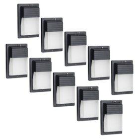 Honeywell 4000 Lumen LED Rectangular Wall Pack Security Light (10-pack)