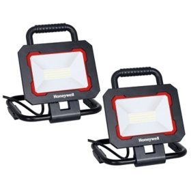 Honeywell 3000 Lumen Collapsible LED Work Light with Adjustable Head (2-Pack)