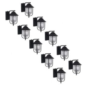 Honeywell 800 Lumen Wall Lantern with LED Vintage Filament Bulb (10-Pack)