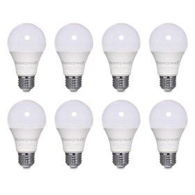 Honeywell 800 Lumen A19 LED Light Bulbs - Non-Dimmable, Warm White (8-Pack)