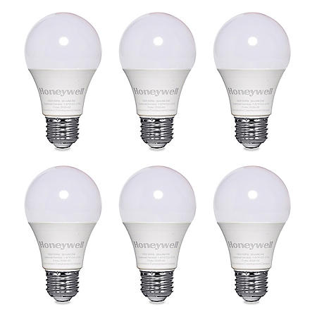Honeywell 800 Lumen A19 LED Dimmable Light Bulbs - Warm White (6-Pack)