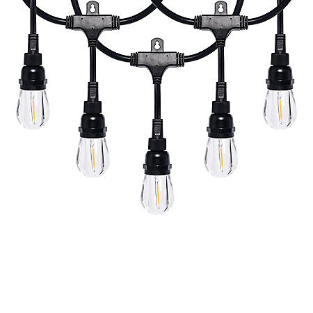 Honeywell 24' Commercial-Grade LED Indoor/Outdoor Café String Lights (2 Pack)