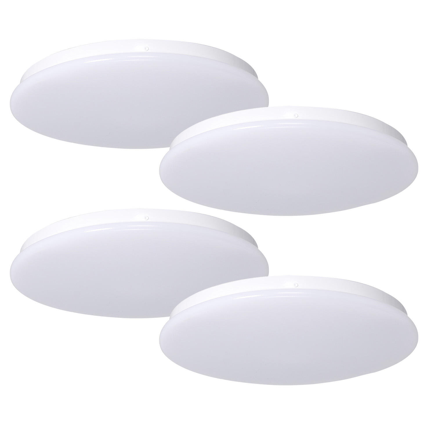 "4-Pack Honeywell 1500 Lumen Dimmable LED 15"" Round Ceiling Light"