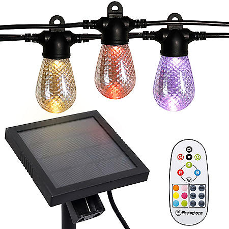 Westinghouse 48' Color Changing Solar Powered LED String Lights with Remote