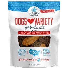 Farmland Traditions Dogs Variety Jerky Treats (3 lb.)