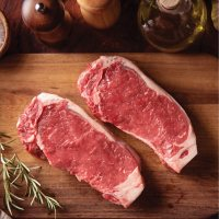Grizzly Ridge Premium Bison New York Strip Steaks (10 oz. each, 6 ct.), Delivered to your doorstep