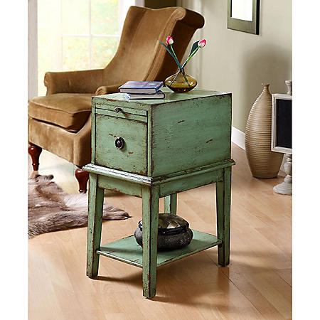 Victoria Green Chairside Chest