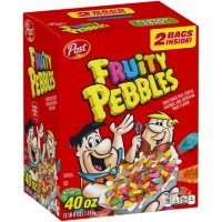 Post Fruity PEBBLES, Gluten Free, Sweetened Rice Cereal (40 oz.)