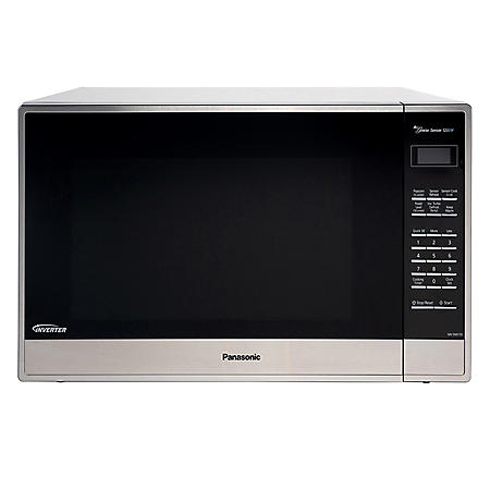 Panasonic 2 2 cu  ft  Stainless-Steel Microwave Oven with Inverter  Technology