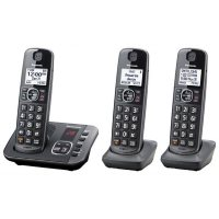Panasonic KX-TGE633M DECT 6.0 Expandable Cordless Phone System with 3 Handsets