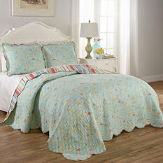 Spring Garden 3-Piece Reversible Quilt Collection (Assorted Sizes)