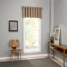 Eclipse Palisade Blackout Grommet Window Valance