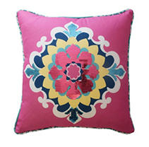 "Waverly Kids Bollywood Sequin Decorative Accessory Pillow, 15"" x 15"""