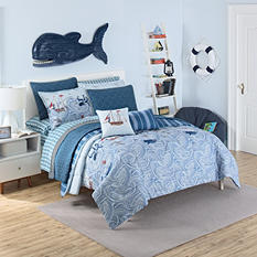 Waverly Kids Ride the Waves Reversible Comforter Set