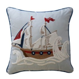 Waverly Kids Ride the Waves Pirate Ship Decorative Accessory Pillow