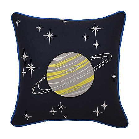 """Waverly Kids Space Adventure Embroidered Decorative Accessory Pillow, 15"""" x 15"""""""