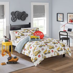 Waverly Kids Under Construction Reversible Bedding Set