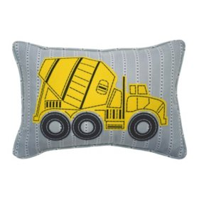 """Waverly Kids Under Construction Oblong Embroidered Accessory Pillow, 12"""" x 18"""""""