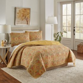 Summer Breeze 3-Piece Cotton Quilt Set