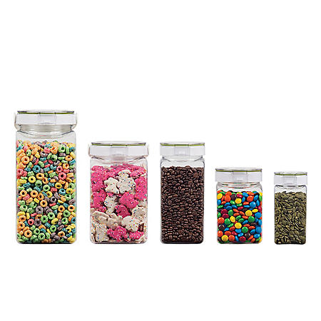 Freshlok By Takeya Airtight Dry Food Storage Containers   5 Piece Set