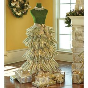 Dress Form Christmas Tree.Member S Mark Premium 5 Dress Form Tree Champagne Sam S Club