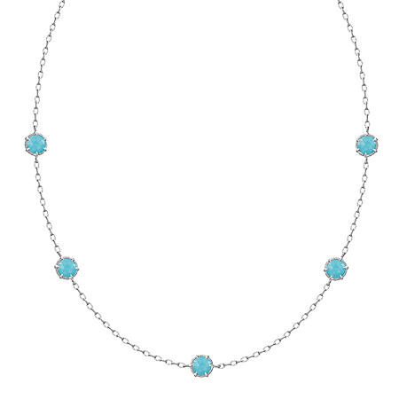 4e8b78b87 Judith Ripka Eclipse 5-Stone Turquoise Necklace - Sam's Club