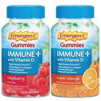 Emergen-C Immune+ Gummies, Raspberry and Super Orange (45 ct., 2 pk.)