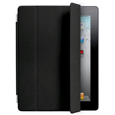 Apple the New iPad Leather Smart Cover - Black