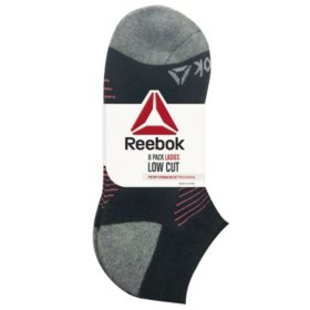 Reebok 8 Pack Women's Cushion Low Cut Socks (Assorted)