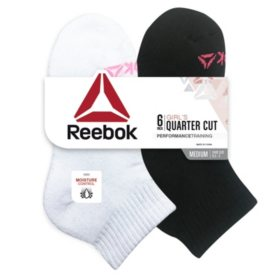 Reebok 6-Pack Girls Cushion Quarter Cut Socks