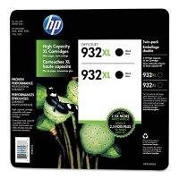 HP 932XL High Yield Original Ink Cartridge, Black, 2 Pack, 1,000 Page Yield