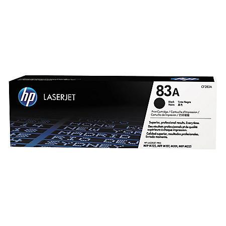 HP 83A (CF283A-D) 2-pack Original LaserJet Toner Cartridges, Black