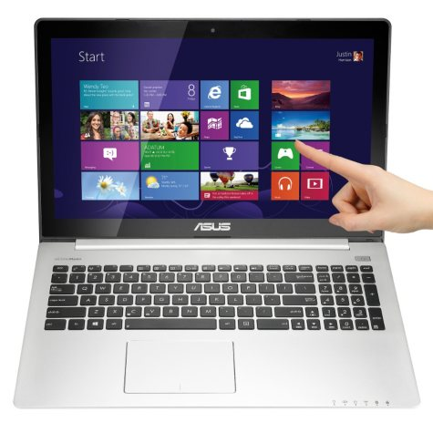 """ASUS S500CA-DS51T 15.6"""" Touch Laptop Computer,Intel Core i5-3317U, 6GB Memory, 500 GB Hard Drive"""