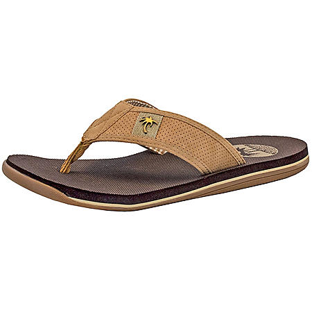 ee47240e2 Margaritaville Men s Flip Flops (Light Tan) - Sam s Club