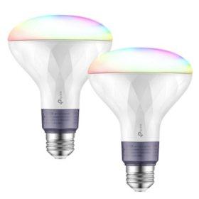 TP-LINK Kasa Smart Wi-Fi Multicolor LED Bulb (2-Pack)