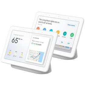 Google Home Hub 2-Pack (Chalk)
