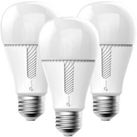 TP-Link Kasa Smart Wi-Fi White LED Dimmable Light Bulb (3-pack)