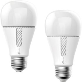 TP-Link Kasa Smart Wi-Fi White LED Tunable Light Bulb (2 pack)