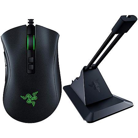 Razer DeathAdder V2 Wired Optical Gaming Mouse & Gaming Mouse Bungee v2 bundle