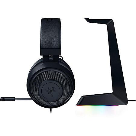 Razer Kraken Wired Stereo Gaming Headset & Razer Base Station Chroma Headphone/Headset Stand bundle