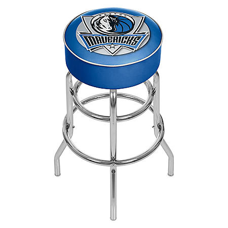 Dallas Mavericks NBA Padded Swivel Bar Stool