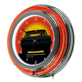Pontiac GTO , Time & Distance , Double Ring Neon Clock