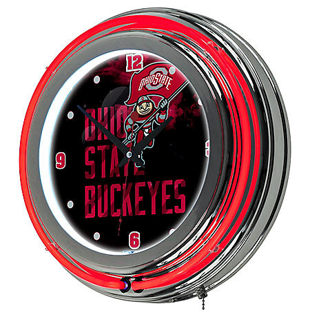 Ohio State Smoking Brutus Neon Wall-Mounted Clock (Assorted Styles)