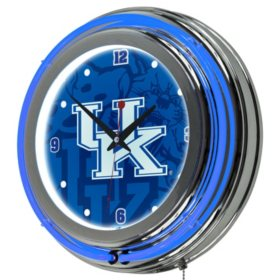 University of Kentucky Neon Wall-Mounted Clock (Assorted Styles)