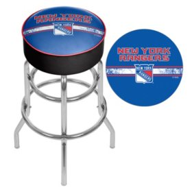Fantastic Nhl Chrome Bar Stool With Swivel New York Rangers Machost Co Dining Chair Design Ideas Machostcouk