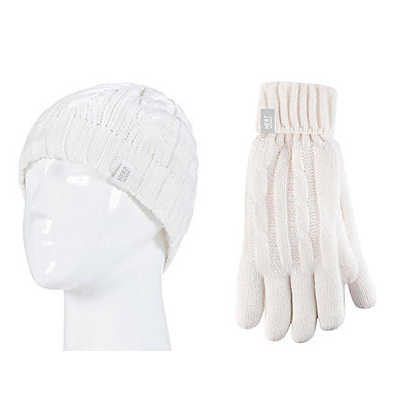 8250961131708 Heat Lockers® Ladies Cable Knit Hat   Glove Set - Sam s Club