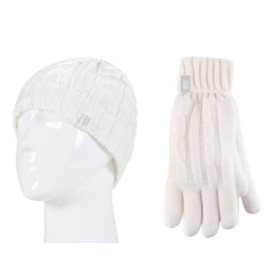 Heat Lockers® Ladies Cable Knit Hat & Glove Set