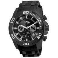 Invicta Men's Pro Diver Scuba Quartz 50mm Black, Black Dial
