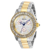 Invicta Womens Angel 38mm Two Tone Stainless Steel and Pave Watch